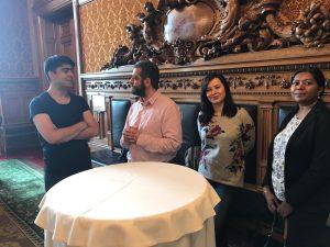 Stiftungsgäste: Kamal, Hakan, Jona und Shahindha